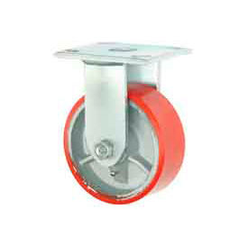 """Faultless Rigid Plate Caster 3438-5 5"""" Mold-On Poly Wheel"""