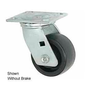 "Faultless Swivel Plate Caster 1431-6RB 6"" Phenolic Wheel with Brake"