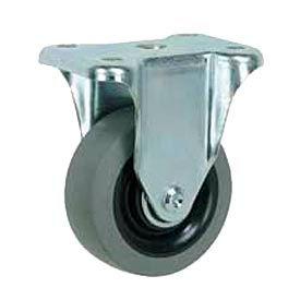 "Faultless Rigid Plate Caster 3491-8 8"" TPR Wheel"