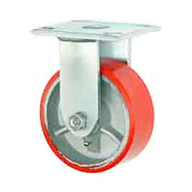 """Faultless Rigid Plate Caster 3438-8 8"""" Mold-On Poly Wheel"""
