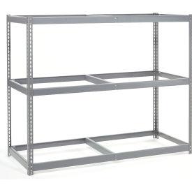 "Wide Span Rack 60""W x 48""D x 60""H With 3 Shelves No Deck 1200 Lb Capacity Per Level"