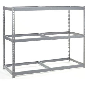 "Wide Span Rack 72""W x 30""D x 96""H With 3 Shelves No Deck 900 Lb Capacity Per Level"