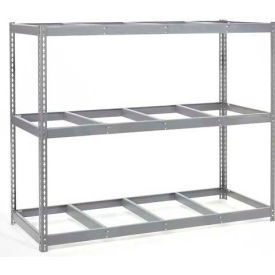 "Wide Span Rack 96""W x 24""D x 84""H With 3 Shelves No Deck 800 Lb Capacity Per Level"