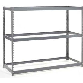 "Wide Span Rack 72""W x 30""D x 96""H With 3 Shelves No Deck 750 Lb Capaity Per Level"