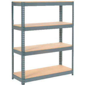 """Extra Heavy Duty Shelving 48""""W x 24""""D x 60""""H With 4 Shelves, Wood Deck"""