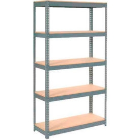"""Extra Heavy Duty Shelving 48""""W x 12""""D x 96""""H With 5 Shelves, Wood Deck"""