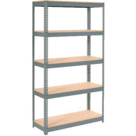 """Extra Heavy Duty Shelving 48""""W x 24""""D x 84""""H With 5 Shelves, Wood Deck"""