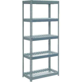 """Extra Heavy Duty Shelving 36""""W x 24""""D x 84""""H With 5 Shelves, Wire Deck"""