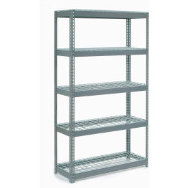 """Extra Heavy Duty Shelving 48""""W x 18""""D x 96""""H With 5 Shelves, Wire Deck"""