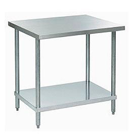 """Aero Manufacturing A2436 36""""W x 24""""D 18 Gauge Stainless Steel Workbench"""