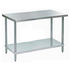 """Aero Manufacturing A2472 72""""W x 24""""D 18 Gauge Stainless Steel Workbench"""