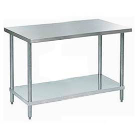 """Aero Manufacturing A3060 60""""W x 30""""D 18 Gauge Stainless Steel Workbench"""