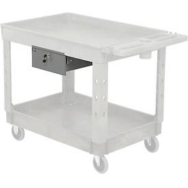 Optional Locking Steel Drawer with Divider for Plastic or Steel Carts