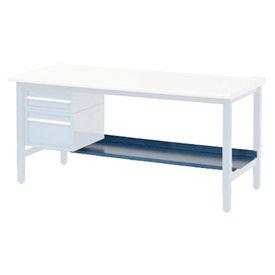 "96""W x 15""D Lower Shelf For Bench - Blue"