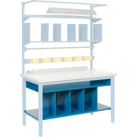 """72""""W Lower Shelf Kit with Dividers"""