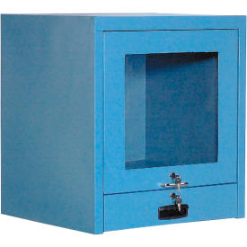 Counter Top CRT Security Computer Cabinet - Blue
