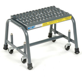 "Grip 16""W 1 Step Steel Rolling Ladder 10""D Top Step"