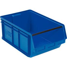Quantum Magnum Plastic Stackable Storage Bin QMS743 18-3/8 x 29 x 11-7/8 Blue