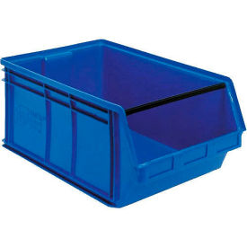 Quantum Magnum Plastic Stackable Storage Bin QMS543 18-3/8 x 19-3/4 x 11-7/8 Blue