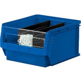 Quantum Magnum Plastic Stackable Storage Bin QMS533 12-3/8 x 19-3/4 x 11-7/8 Blue - Pkg Qty 3