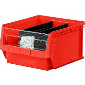 Quantum Magnum Plastic Stackable Storage Bin QMS532 12-3/8 x 19-3/4 x 7-7/8 Red - Pkg Qty 6