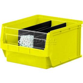 Quantum Magnum Plastic Stackable Storage Bin QMS531 12-3/8 x 19-3/4 x 5-7/8 Yellow - Pkg Qty 6