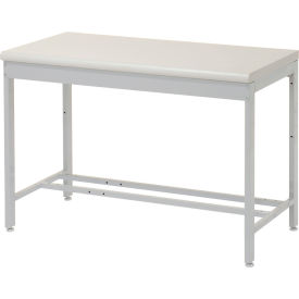 "48""W x 24""D Euro Style Production Workbench - Plastic Laminate Square Edge - Gray"