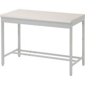 "48""W x 24""D Euro Style Production Workbench - Plastic Laminate Square Edge - Gray"