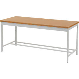 "72""W x 30""D Euro Style Production Workbench - Shop Top Square Edge - Gray"