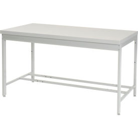 """60""""W x 36""""D Euro Style Production Workbench - ESD Square Edge - Gray"""