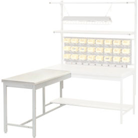 """48""""W x 24""""D Euro Style Production Workbench Return - ESD Square Edge - Gray"""