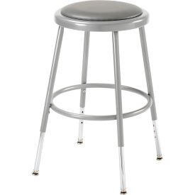 Interion™ Shop Stool w/Vinyl Upholstered Seat/Steel Frame/18=-27= Adjustable Height - Pkg Qty 2
