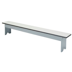 "Locker Bench Plastic Laminate Top w/Steel Pedestals, Free Standing, 72""W x 12""W x 18""H"