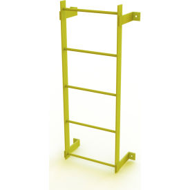 5 Step Steel Standard Uncaged Fixed Access Ladder, Yellow - WLFS0105-Y