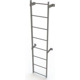 8 Step Steel Standard Uncaged Fixed Access Ladder, Gray - WLFS0108
