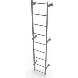 9 Step Steel Standard Uncaged Fixed Access Ladder, Gray - WLFS0109
