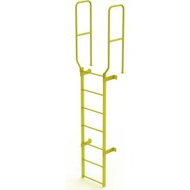 7 Step Steel  Walk Through With Handrails Fixed Access Ladder, Yellow - WLFS0207-Y