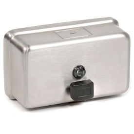 ASI® Stainless Soap Dispenser Horizontal - 0345