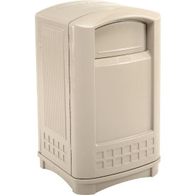 Rubbermaid Plaza Waste Receptacle - Beige