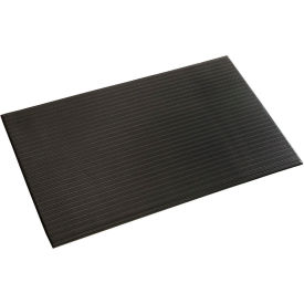 Ribbed Surface Mat 5/8 Thick 4 Foot Wide Black
