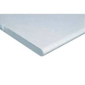 """60"""" W x 30"""" D x 1-1/4"""" Thick, ESD Safety Edge Workbench Top, White"""