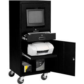 Global Industrial™ Mobile Security Computer Cabinet, Black, Unassembled