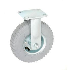 "Rigid Plate Caster 8"" Full Pneumatic Wheel 300 lb. Capacity"