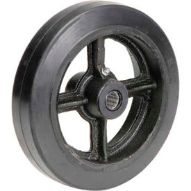 "8"" x 2"" Mold-On Rubber Wheel - Axle Size 3/4"""