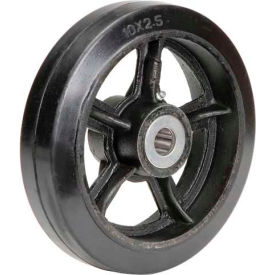 "10"" x 2-1/2"" Mold-On Rubber Wheel - Axle Size 1"""