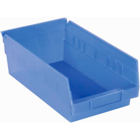 "Akro-Mils Plastic Shelf Bin Nestable 30150 - 8-3/8""W x 11-5/8""D x 4""H Blue - Pkg Qty 12"