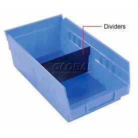 "Akro-Mils Shelf Bin Divider 40170 For 11""W x 4""H Shelf Bins, Black, Price pack of 24"