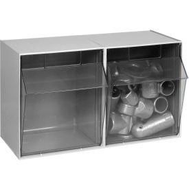 Quantum Tilt Out Storage Bin QTB302  2 Compartments Gray
