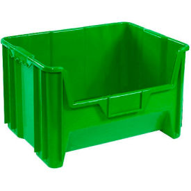 Heavy Duty Plastic Hopper Bin - Green - Price Each, Sold Pkg Qty 3 - Pkg Qty 3