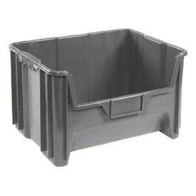 Heavy Duty Plastic Hopper Bin - Gray, Sold Pkg Qty 3 - Pkg Qty 3